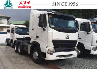 Flat Roof Prime Mover Truck , 10 Wheeler HOWO A7 Truck Strong Bearing Capacity