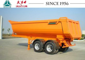 27 CBM 30 Tons End Dump Trailers U Shape Easy Maintenance With Spring Suspension